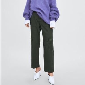 Zara Pants - Zara khaki cargo pants